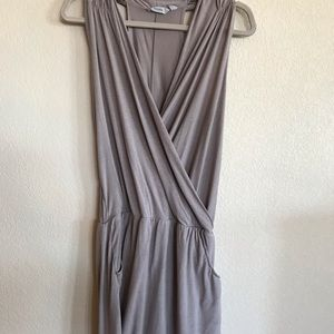 Athleta sz small griege color pocketed dress